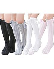 Toptim Girls Stockings Knee High Long Socks for Todders and Childrens