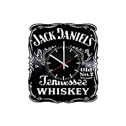 OlhaArtShop Jack Daniels Whiskey Vinyl Wall Clock, Vinyl Record Handmade Art Decor for Home Room Kitchen, Vintage Original Gift for Any Occasion, Party Supplies Decoration