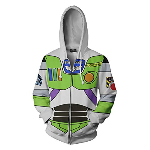 BelieveME Cartoon Woody & Buzz Sweatshirt Cosplay Costume Party Cartoon for Adult (M, Style 2) -