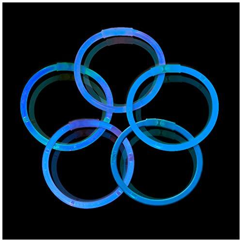 Lumistick 10 Inch Glow Sticks - Glow Sticks with Necklace and Bracelet Connectors - Glowstick Bundle Party Bracelets (100, Blue)