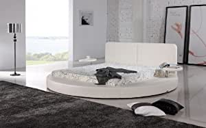 Oslo Round Bed King Size (White).