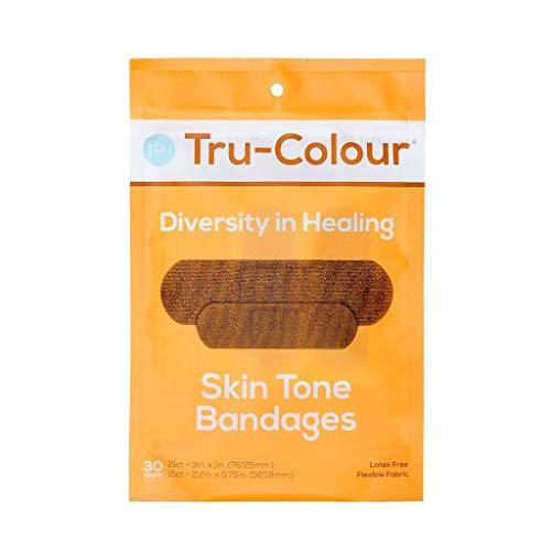 Tru-Colour Skin Tone Adhesive Fabric Bandages Match Your Skin Tone Yellow, 20 ()