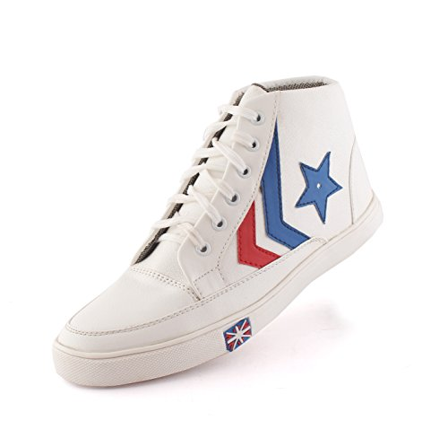 AORFEO Unisex White Men and Women Casual Sport Running Shoes and Leather Look Sneaker Shoe Shoes CX23 (9)