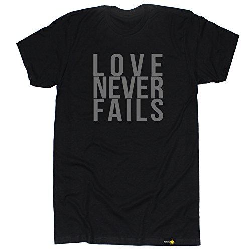 Radiate Apparel Men's Love Never Fails T Shirt-Medium Black by Radiate Apparel (Image #2)