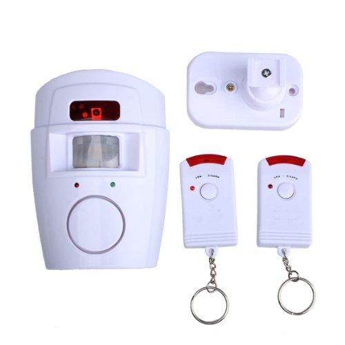 Hrph Home Security Wireless Motion Sensor Alarm und Sirene mit 2 Fernsteuerungs