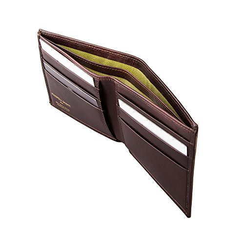 Luxury Dark Leather Mens Scott Vittore Wallet Chocolate Italian Maxwell Handcrafted The WTnOcSqF