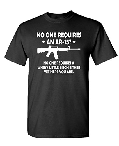 No One Requires AR 15 T Shirt