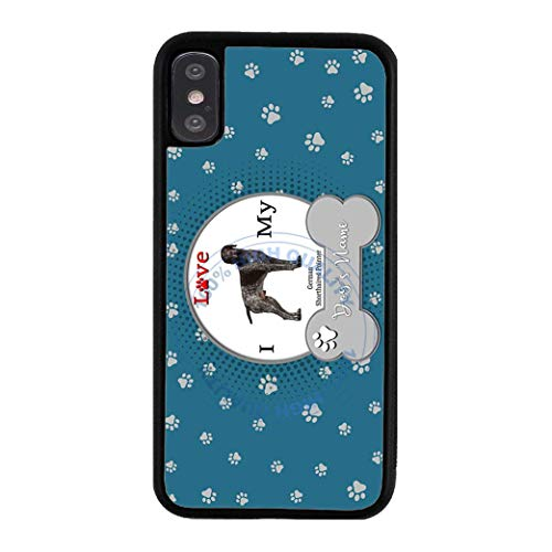 (BRGiftShop Personalize Your Own I Love My Dog German Shorthaired Pointer Rubber Phone Case For Apple iPhone XR)