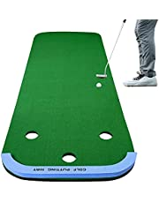 Golf Carpet Putting Green Mats Set, Long 3M, for Golf Putting Use Practicing Putt Green Carpet for Adult and Children Putting Indoor Outdoor