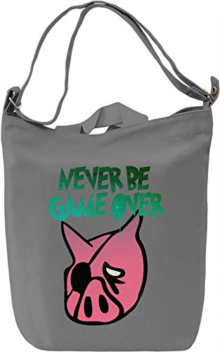 Never Be Game Over Borsa Giornaliera Canvas Canvas Day Bag| 100% Premium Cotton Canvas| DTG Printing|