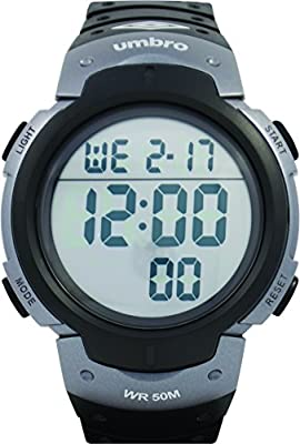 UMBRO UMB-03-2 Unisex ABS Black Band, ABS Bezel 48mm Case Analog MIYOTA 2025 Electronic Precision Movement Water Resistant 5 ATM Sport Watch