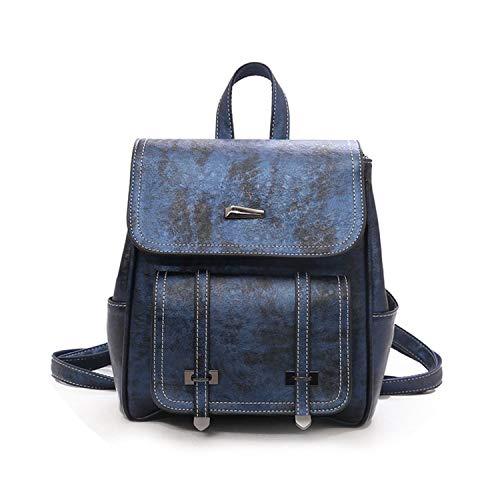 Fashion Bag Leather Backpacks Fors Mujer Feminina Plecak Holiday Travel Bagpack Bags,Blue