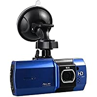ETTG 2.7inch 170°Wide Angel Car Dash DVR Camera with HD 1080P Video Recorder Night Vision G-sensor Support 32G TF Card - Blue