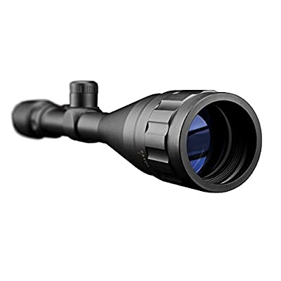 TIYI Tactical Rifle Scope 6-24x50mm AOE for Hunting Illuminated Reticle Crosshair Sight with Mounts Rings, Red/Green