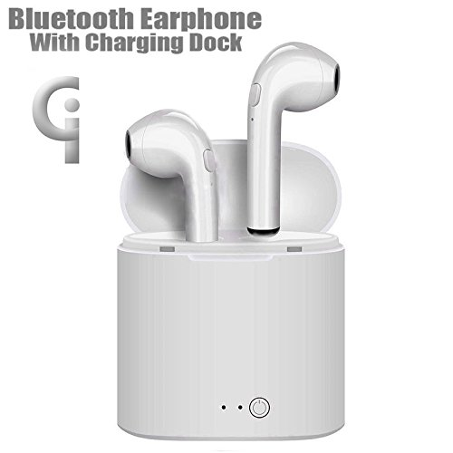 Wireless Earbuds By BETTERBE-CI |Bluetooth Headphones With Noise Canceling | Stereo Ear sweatproof |Earphones With Mic For Iphone 6 7 8 Plus X Galaxy Android Phones Compatible With Windows, computers. by BETTERBE-CI