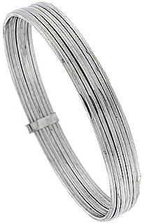 Amazon Com Sterling Silver 7 Day Bangle Bracelet Handmade 7 Inch