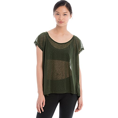 Lole Women's Beth Short Sleeve Top Greens T-Shirt XS