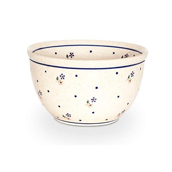 Bunzlauer Ceramic Salad Bowl with Interior Décor Small Diameter 16.2 cm Height 9.3 cm Volume 0.84 litres Design 111