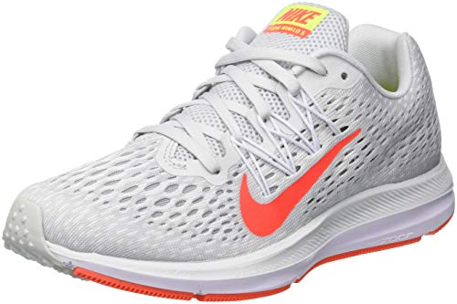 Zoom Bright Winflo Nike Running de 5 Femme Crimson Platinum Pure Chaussures Multicolore 001 White d144qwnT