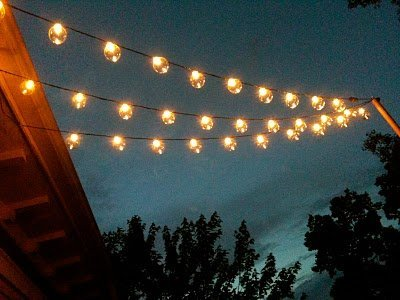 String Garden Lights Indoor Outdoor : Sival Clear Globe String Lights Set of 25 G40 Bulbs, Perfect for Patio, Gardens, Gazebos ...