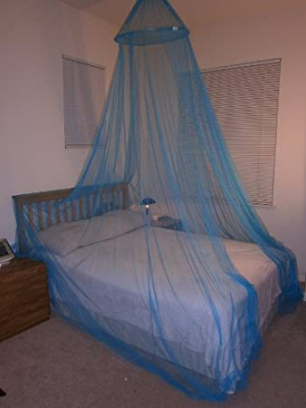 Octorose  Teal Blue Hoop Bed Canopy Mosquito Net Full Queen King