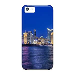 Iphone High Quality Tpu Case/ Summer Sky In Shanghai UAFLt184mqcxK Case Cover For Iphone 5c