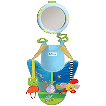 Taf Toys In-Car Play Center | Parent And Babys Travel Companion, Keeps Both Relaxed While Driving, Mirror To Watch Baby From Drivers Seat, Enables Easier ...