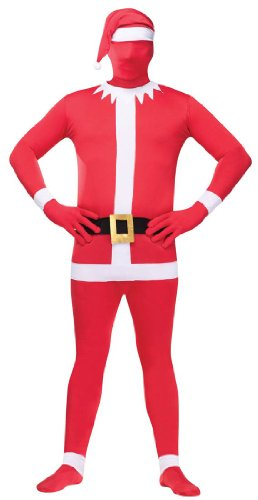 Santa Skin Suit (Fun World Costumes Men's Santa Skin Suit Adult Costume, Red/White, One Size)