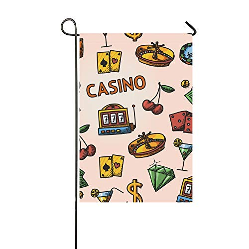 YUMOING Home Decorative Outdoor Double Sided Interesting Creative Poker Toy Card Garden Flag House Yard Flag Garden Yard Decorations Seasonal Welcome Outdoor Flag 12x18in Spring Summer Gift ()