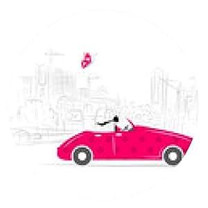 alfombrilla de ratón Mujer que conduce el coche para su diseño - ronda - 20cm