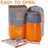 Energify Limited-Time Offer Vacuum Insulated Food Jar to Go Containers – Hot & Cold Meals Stainless Steel Thermos Jars, Soup Bowls, Baby Food Storage, Lunch Containers 15.2 or 22 oz