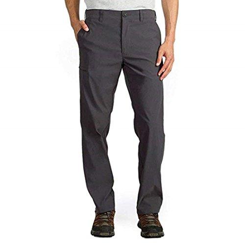 UB Tech by Union Bay Mens Classic Fit Comfort Waist Chino Pants (Charcoal, 36x34)