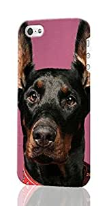 doberman Pattern Image - Protective 3d Rough Case Cover - Hard Plastic 3D Case - For iphone 4s