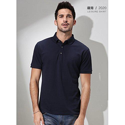 NING456 Todos-Match/Color / Tamaño/Business / / Ocio/Camisa / T-Shirt/Masculino / Tamaño/Business Algodón/Solapa / Agregar Fertilizante Aumentó,M,2020 Verde Tibetano 06d013