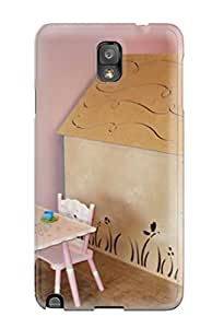 Herbert Mejia's Shop Hot Fashion Design Case Cover For Galaxy Note 3 Protective Case (pink Playroom Ready For Tea Time With Playhouse And Tea Set)