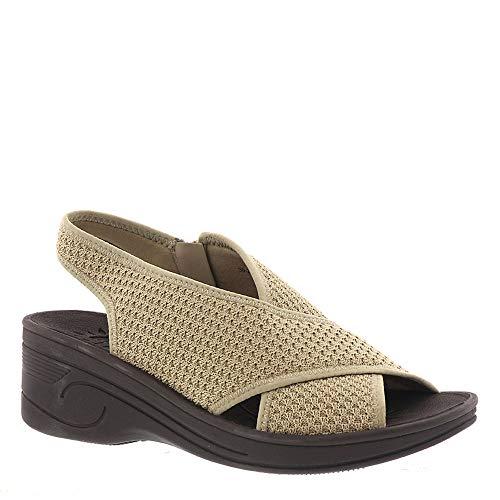 Easy Street Women's Jolly Wedge Sandal, Natural Fly Kn - 8 M US
