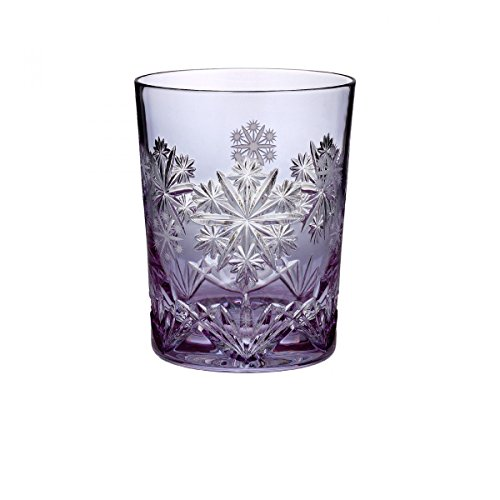 Waterford Snowflake Wishes 2016 Serenity Leana Lavender Double Old Fashioned Glass by Waterford