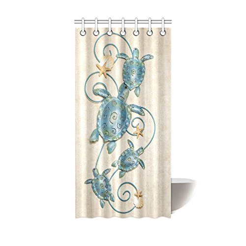 - Sea Turtle Waterproof Bathroom decor Fabric Shower Curtain Polyester 36 x 72 inches