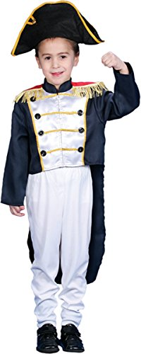 Morris Costumes Little Boys' Colonial General Sm 4 To (Little Colonial Boy Child Costumes)