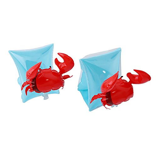 Sealive Inflatable Arm Band Crabby Begin To Swim Crab Arm Band Floatation Sleeves,for Ages 3-6 Years Old Child Kids