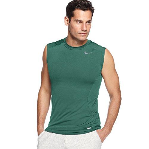 Nike Dri-fit Pro compressione senza maniche verde da uomo, misura grande
