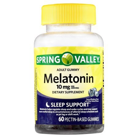 Spring Valley Adult Gummies Melatonin 10mg Pectic 60 count