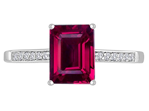 Star K 8x6mm Created Ruby Solitaire Engagement Ring 14kt Size 9