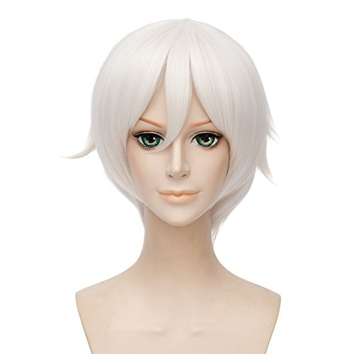 Costume Frost Halloween Jack (Netgo Short White Anime Cosplay Wigs Unisex Synthetic Costume Party Halloween)