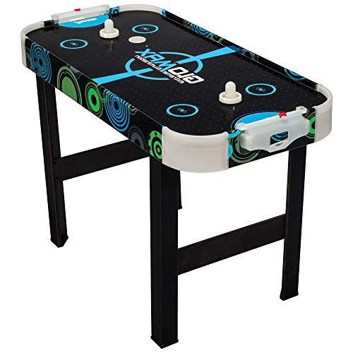 HealthyBells Glomax Glow-in-The-Dark Air Hockey Table, 40