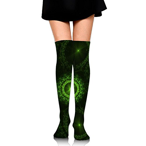 (PengMin Abstract Green Fractal Cotton Compression Socks For Women. Graduated Stockings For Nurses, Maternity, Travel, Flight, Pregnancy, Varicose Veins,Running & Fitness, Calf Support.)