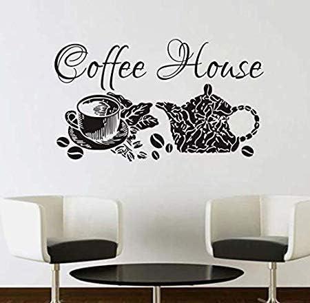 Hdehdiex61 Cafetería cafetera Decorada con calcomanías de Pared decoración de la Ventana del café Negro 59x101cm: Amazon.es: Hogar