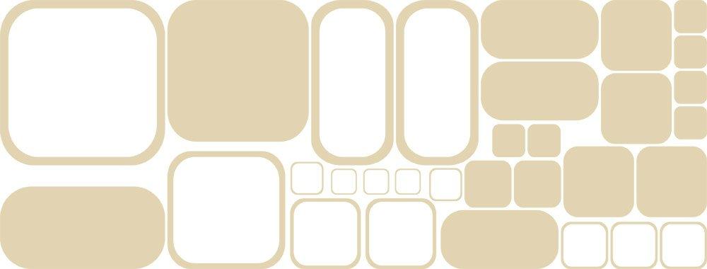 GRAZDesign 750018_57_082 750018_57_082 750018_57_082 Wandtattoo Retro Rechtecke   Tattoo für Wohnzimmer   Wandaufkleber als Wand-Dekoration (150x57cm  082 beige) B07CNBR3DH Wandtattoos & Wandbilder d2f319