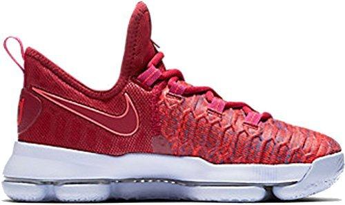 Nike Kids KD9 (GS) Basketball Shoe (3.5Y, University Red/Palest Purple)
