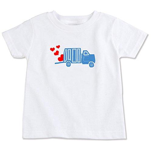 [Love Truck Organic Cotton Toddler T Shirt (3T)] (Dump Truck Short)